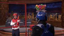 Mark Wahlberg et Jimmy Fallon font une bataille de fléchettes