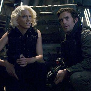 Battlestar Galactica : Photo James Callis, Tricia Helfer