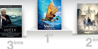 Box-office France : Vaiana détrône Les Animaux fantastiques