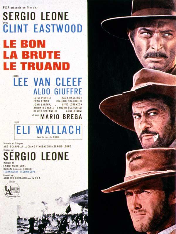 Le Bon, la brute et le truand : Affiche Eli Wallach, Lee Van Cleef, Sergio Leone