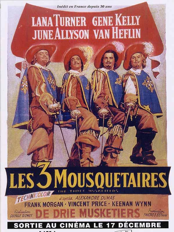 les trois mousquetaires avec bourvil