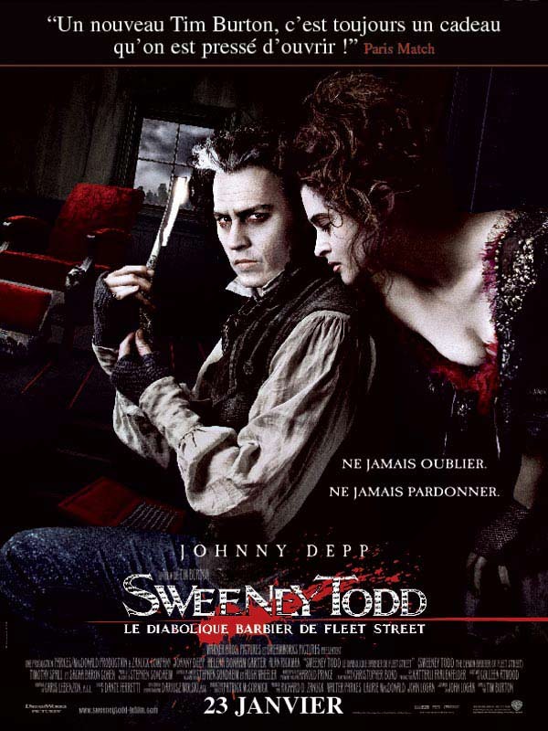 Sweeney Todd, le diabolique barbier de Fleet Street streaming
