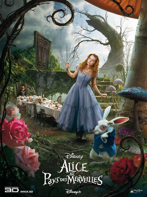 affiche du film alice au pays des merveilles affiche 9 sur 14 allocin. Black Bedroom Furniture Sets. Home Design Ideas