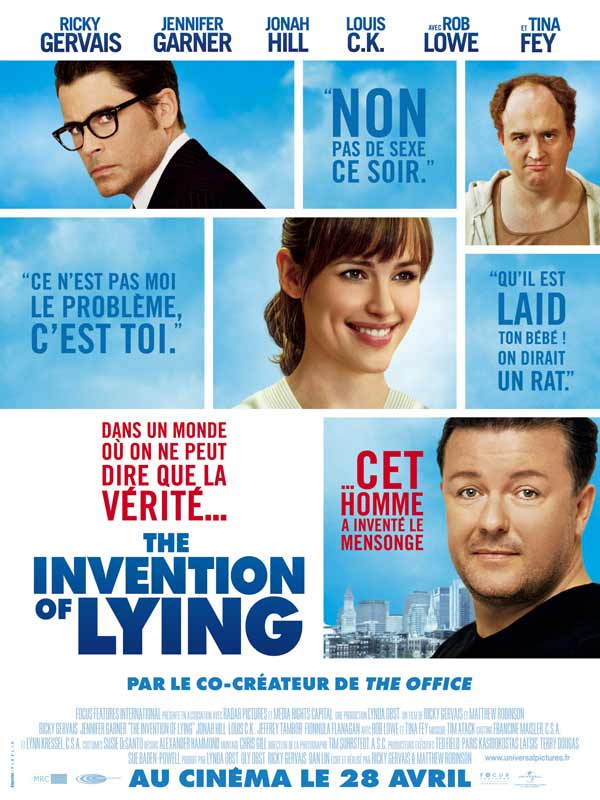 movie review the invention of lying The invention of lying type movie current status in season mpaa pg-13 runtime 100 minutes wide release date 10/02/09 performer jennifer garner, ricky.