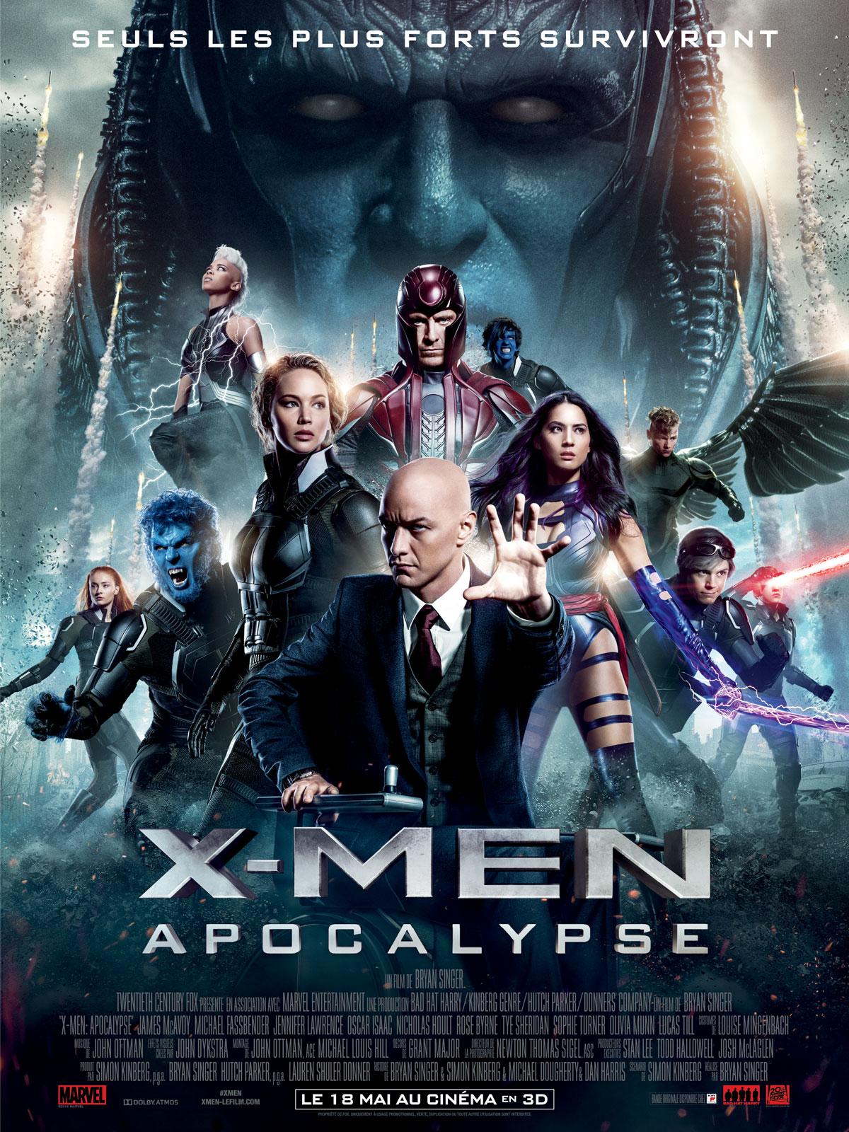 x men apocalypse les mutants surplomb s par apocalypse posent sur l 39 affiche fran aise actus. Black Bedroom Furniture Sets. Home Design Ideas