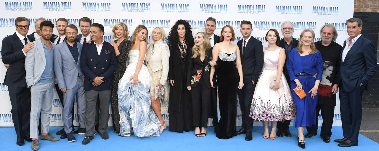 Cher, Meryl Streep, Amanda Seyfried... Un air de Grèce à l'avant-première de Mamma Mia 2