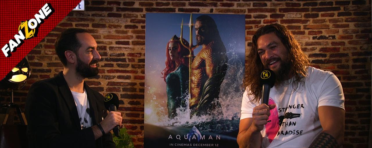 Jason 'Aquaman' Momoa s'invite dans FanZone et répond à vos questions
