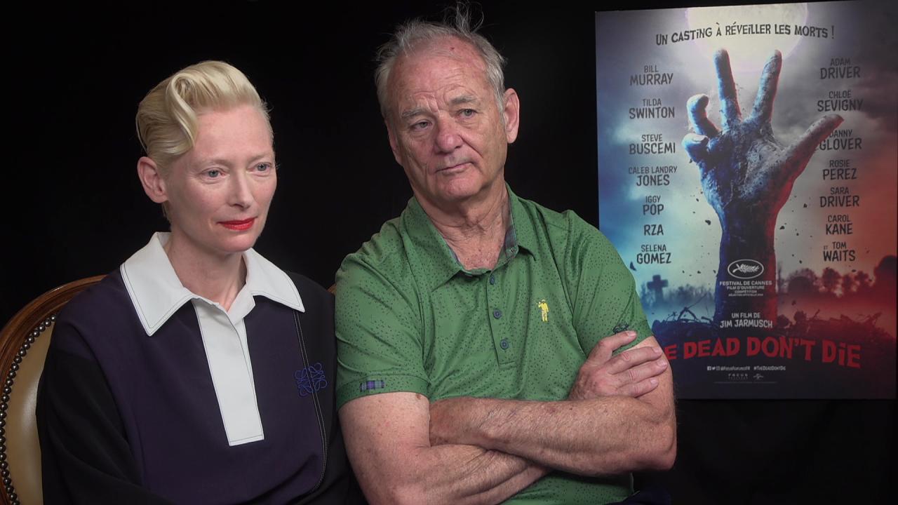 """Cannes 2019 - The Dead Don't Die : """"Les morts qui ne meurent pas, c'est plutôt séduisant"""" pour Tilda Swinton et Bill Murray"""