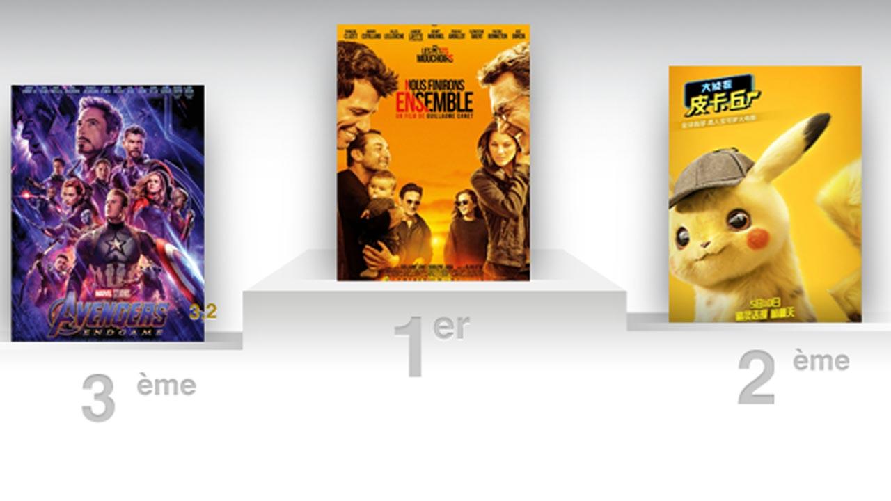 Nous finirons ensemble devant Pikachu et les Avengers au box-office français