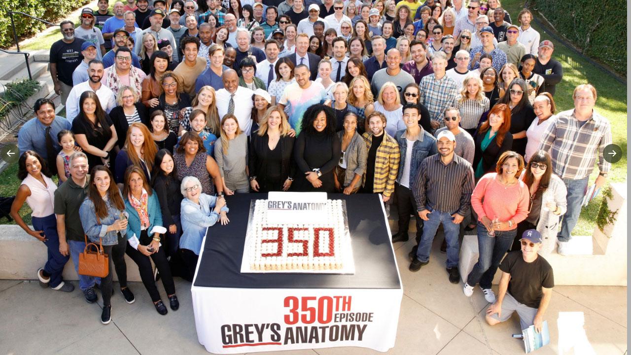 Grey's Anatomy : l'équipe réunie pour fêter le 350e épisode