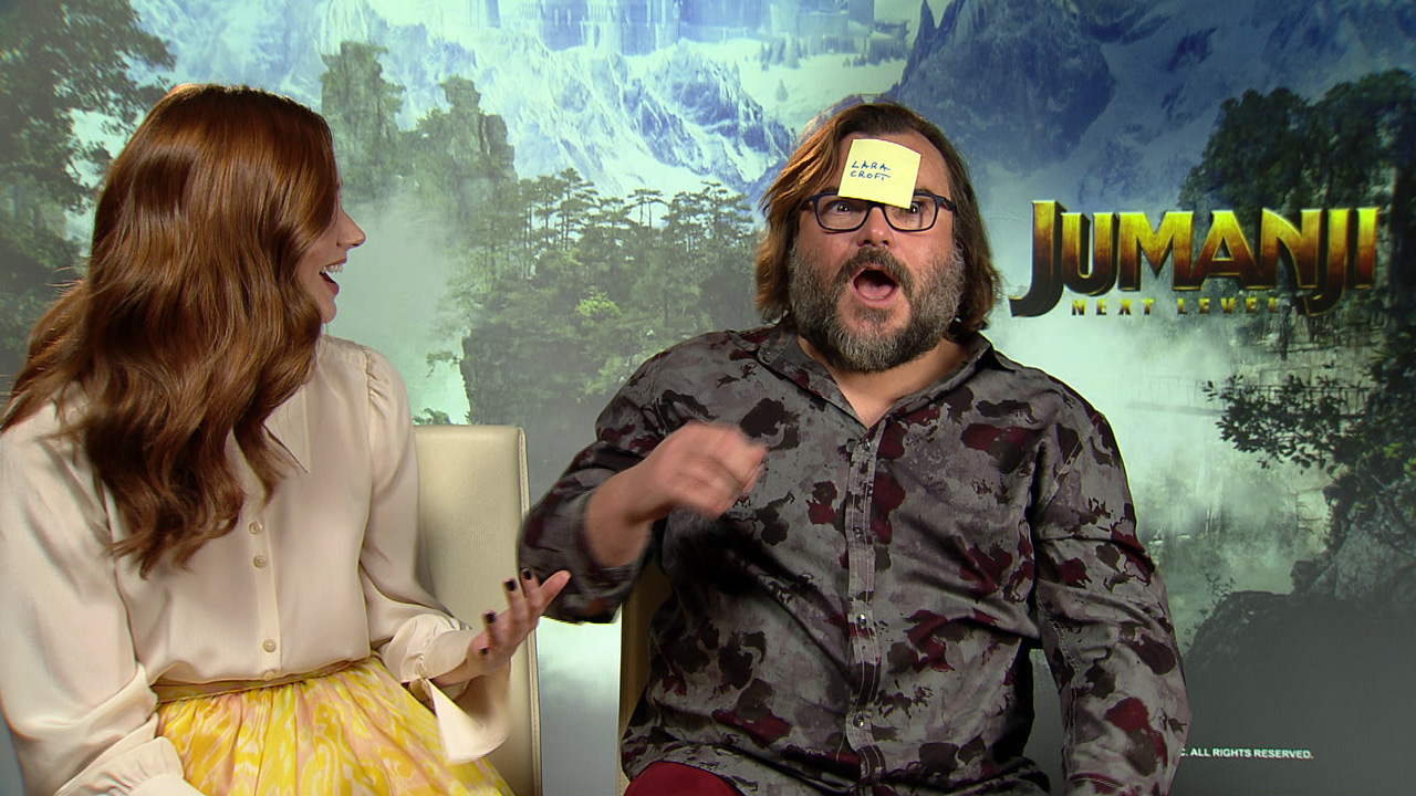 Jumanji : on a joué au jeu du post-it avec Karen Gillan et Jack Black