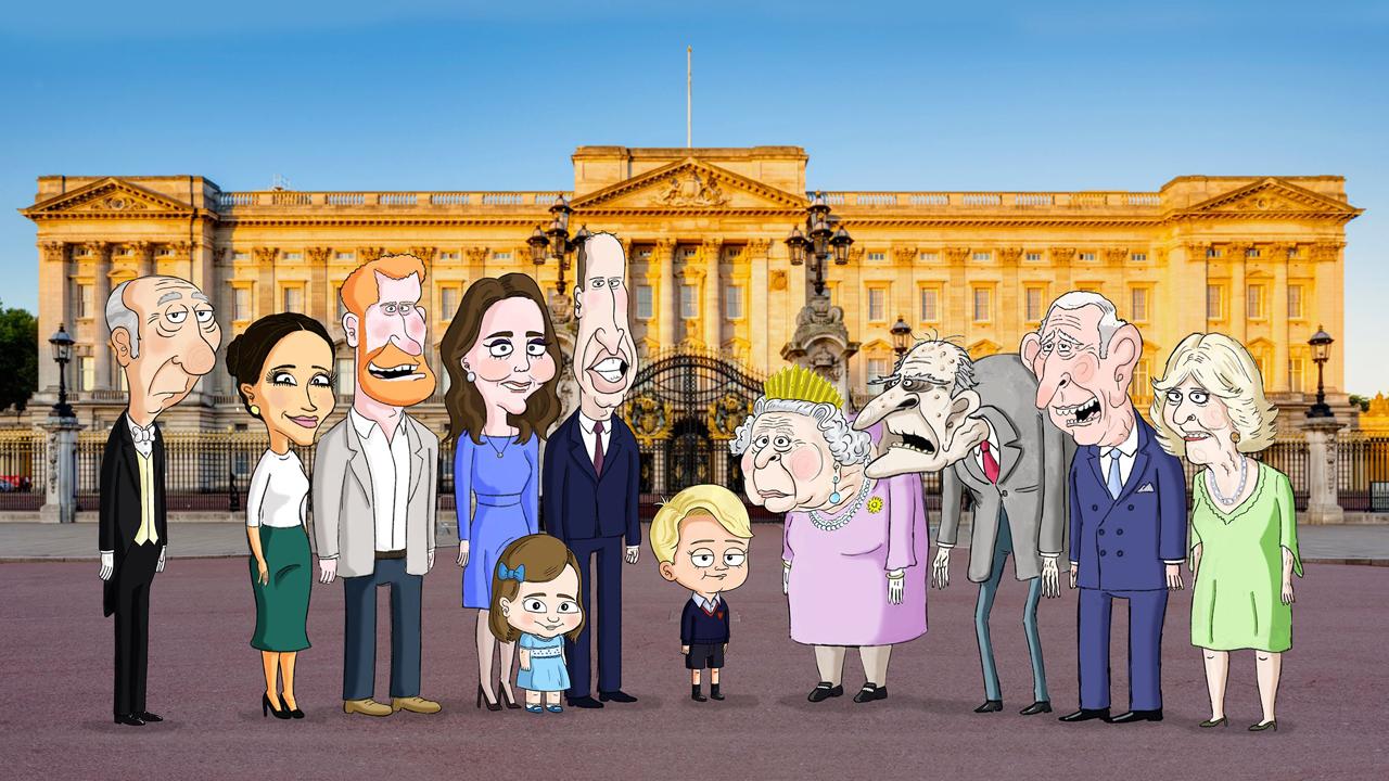 La famille royale britannique parodiée dans la série d'animation The Prince