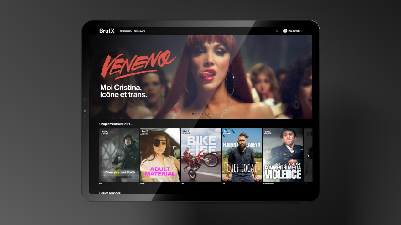 Brut lance BrutX, sa nouvelle plateforme de streaming engagée