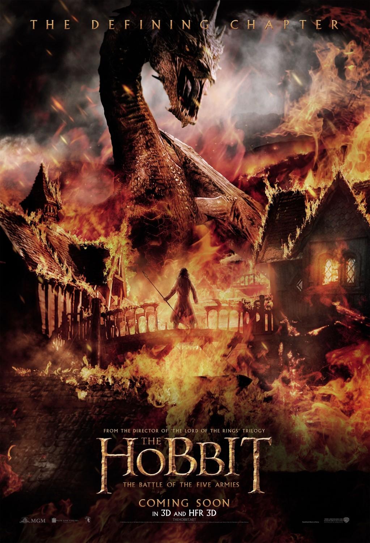 affiche du film le hobbit la bataille des cinq arm233es