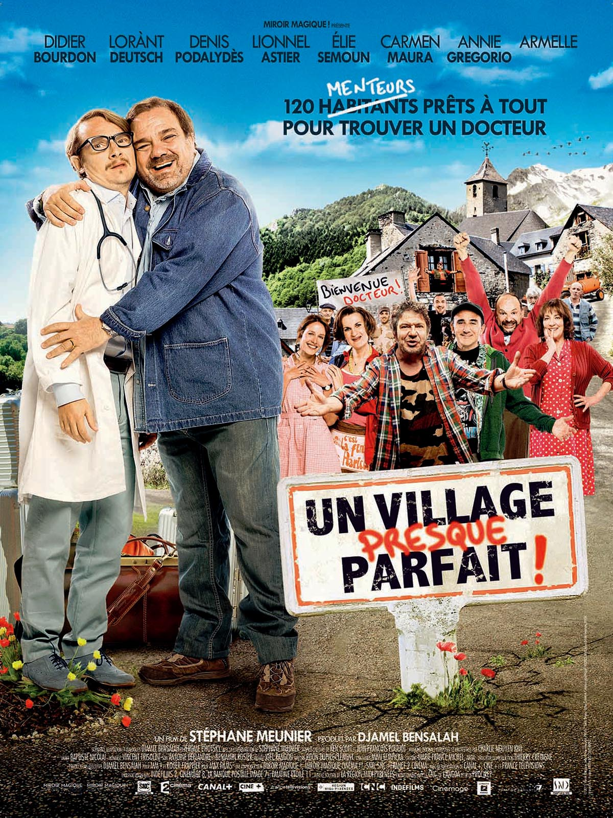 affiche du film un village presque parfait affiche 1 sur 1 allocin. Black Bedroom Furniture Sets. Home Design Ideas