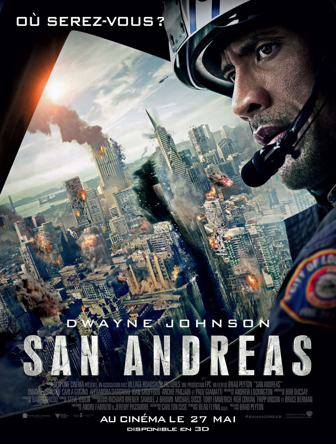 affiche du film san andreas affiche 1 sur 5 allocin. Black Bedroom Furniture Sets. Home Design Ideas