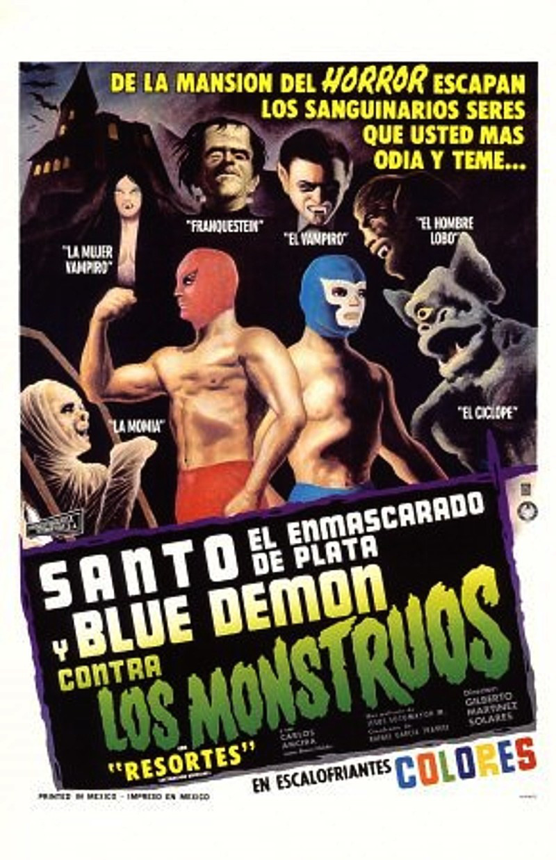 Santo el enmascarado de plata y Blue Demon contra los monstruos Streaming HD Gratuit