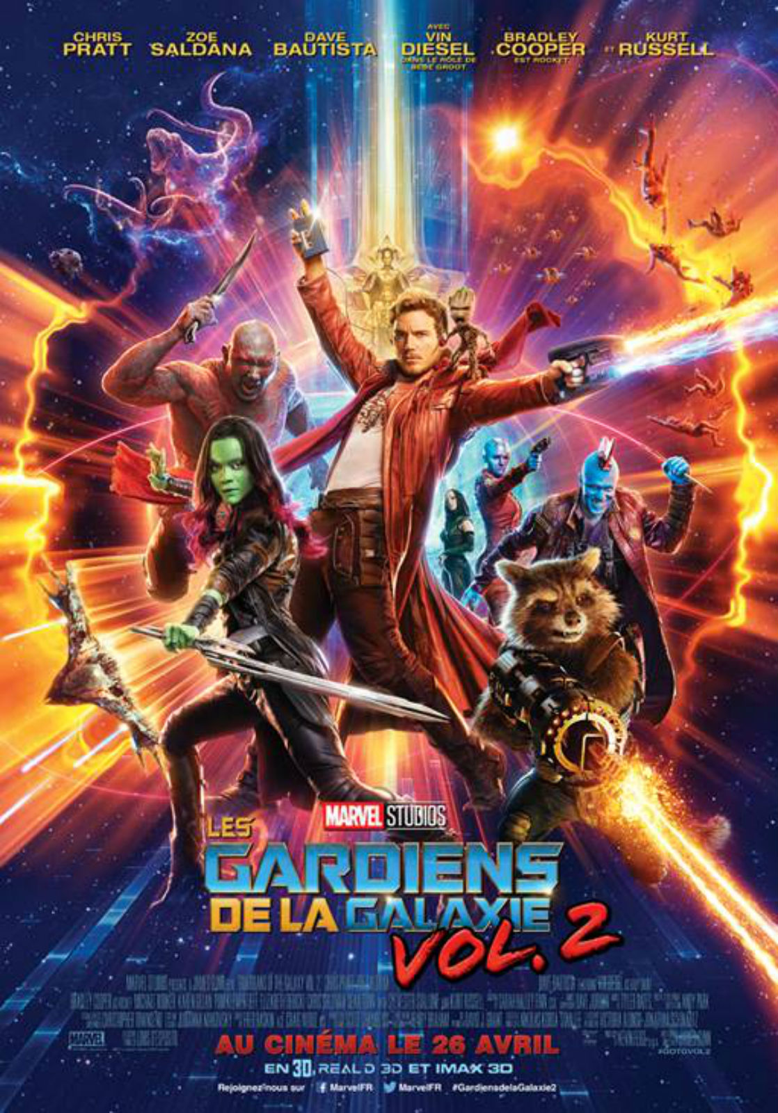 Les Gardiens de la Galaxie 2 streaming