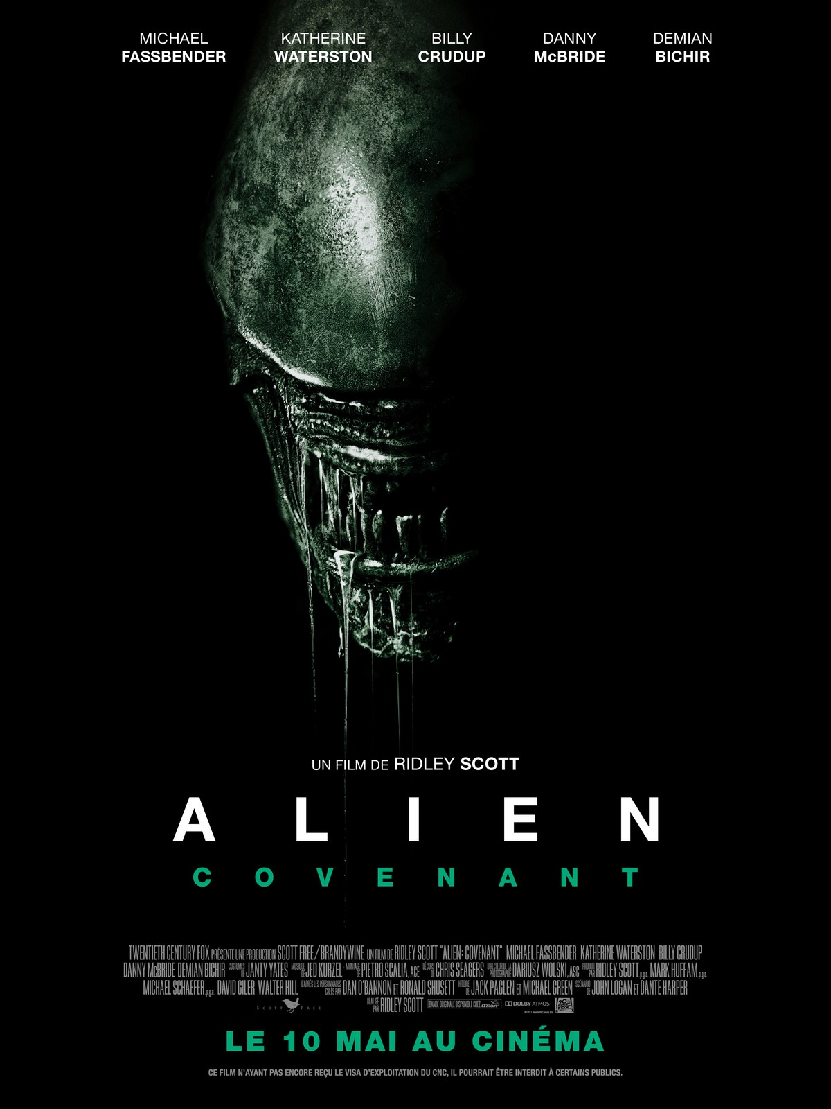 affiche du film alien covenant affiche 1 sur 7 allocin. Black Bedroom Furniture Sets. Home Design Ideas