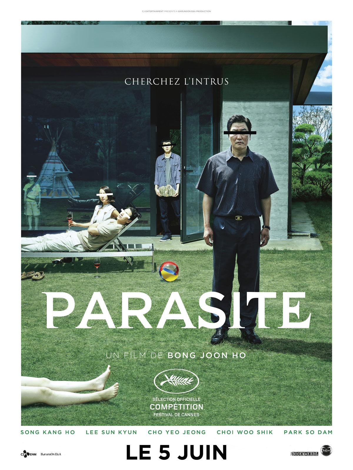 Affiche française de Parasite.