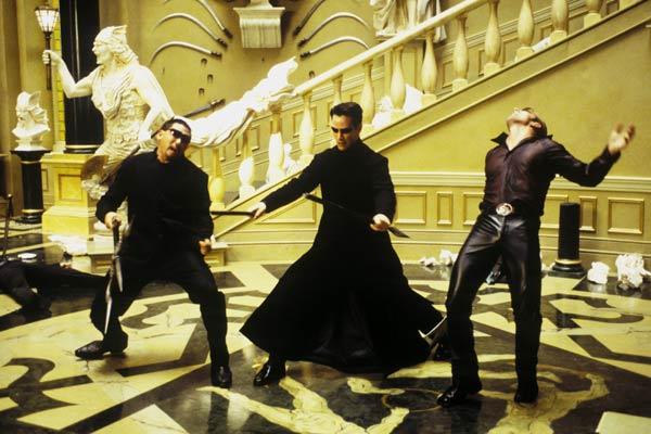 Matrix Reloaded : Photo Keanu Reeves, Ousaun Elam