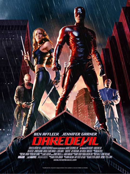 Daredevil : affiche Ben Affleck, Colin Farrell, Jennifer Garner, Mark Steven Johnson, Michael Clarke Duncan