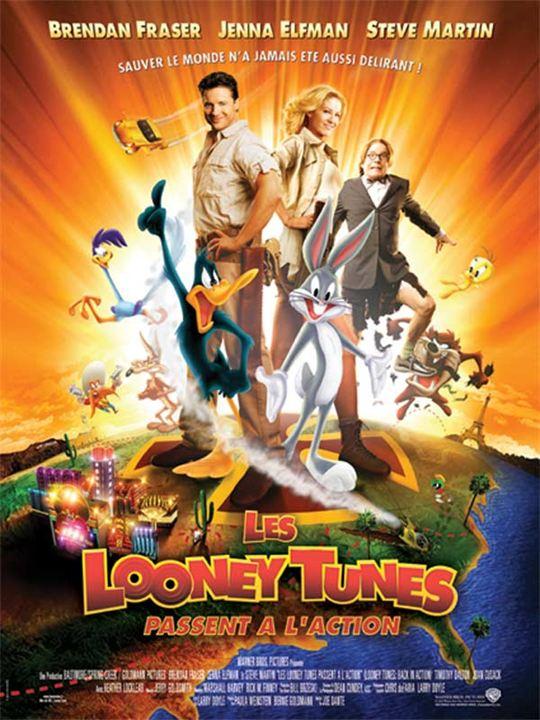 Les Looney Tunes passent à l'action : Affiche Brendan Fraser, Jenna Elfman, Steve Martin