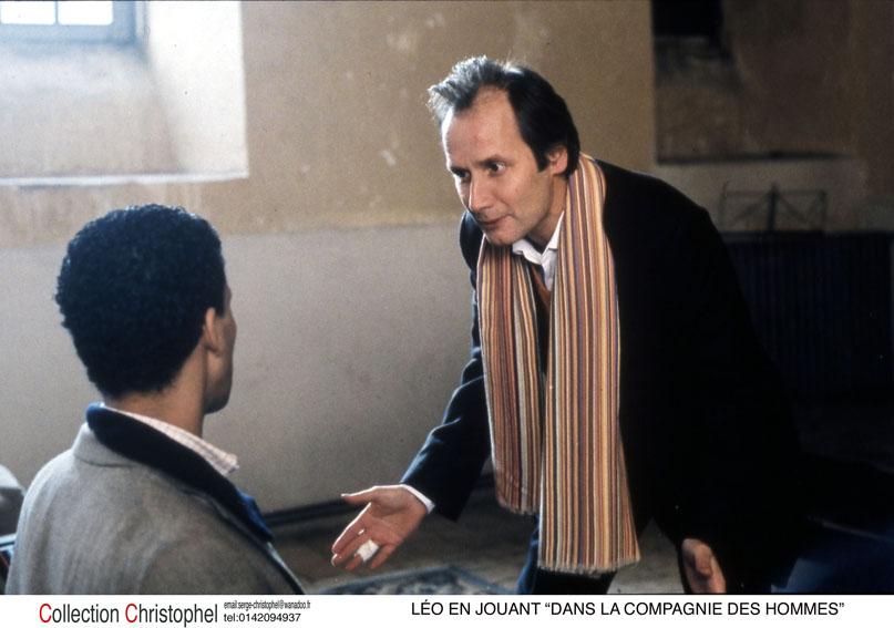 "Léo en jouant ""Dans la compagnie des hommes"" : Photo Arnaud Desplechin, Hippolyte Girardot"