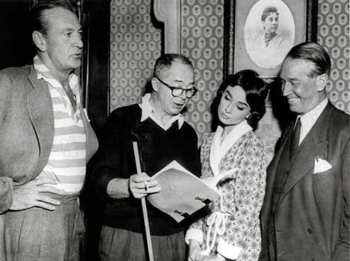 Ariane : Photo Audrey Hepburn, Billy Wilder, Gary Cooper, Maurice Chevalier