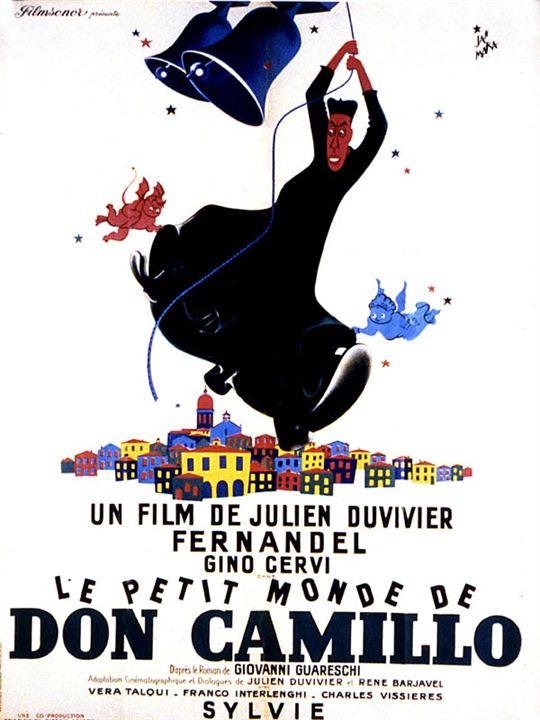 Le Petit monde de Don Camillo : affiche Fernandel, Gino Cervi, Julien Duvivier