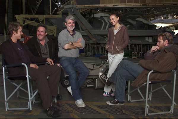 Star Wars : Episode III - La Revanche des Sith : Photo Ewan McGregor, George Lucas, Hayden Christensen, Natalie Portman, Rick McCallum
