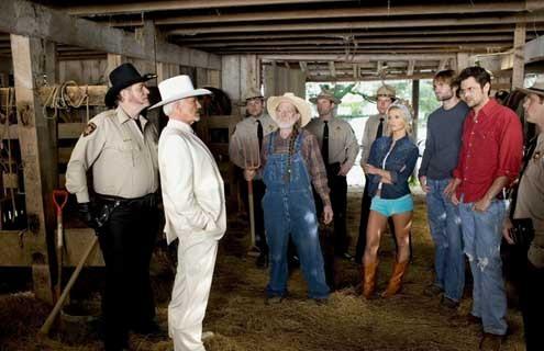 Shérif fais-moi peur, le film : Photo Burt Reynolds, Jay Chandrasekhar, Jessica Simpson, Johnny Knoxville, Seann William Scott