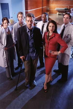 Dr House : Photo Hugh Laurie, Jennifer Morrison, Jesse Spencer, Lisa Edelstein, Omar Epps