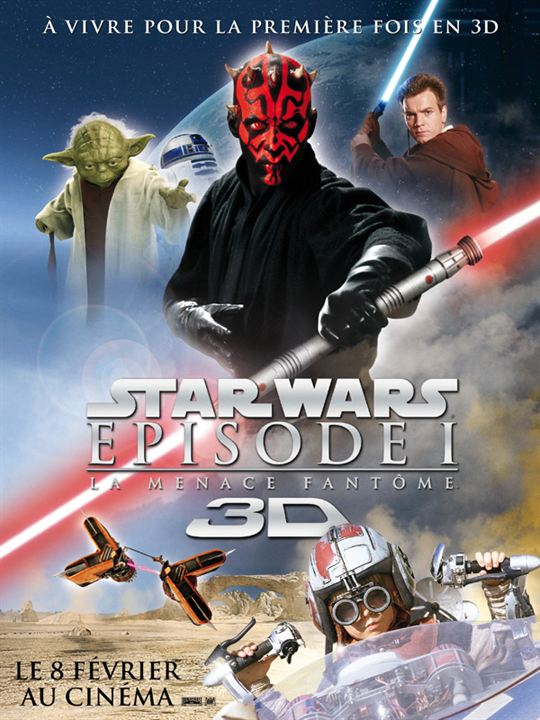 affiche du film star wars   episode i