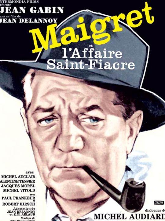 Maigret et l'affaire Saint-Fiacre : Affiche Jean Delannoy, Jean Gabin