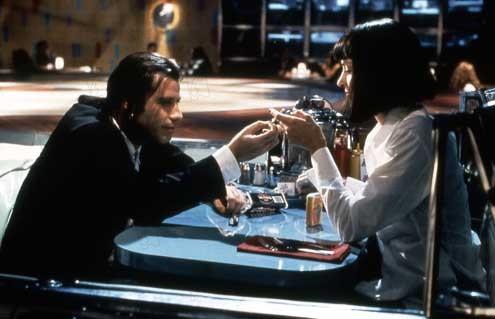 Pulp Fiction : Photo John Travolta, Uma Thurman