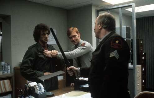 Rambo : Photo David Caruso, Sylvester Stallone