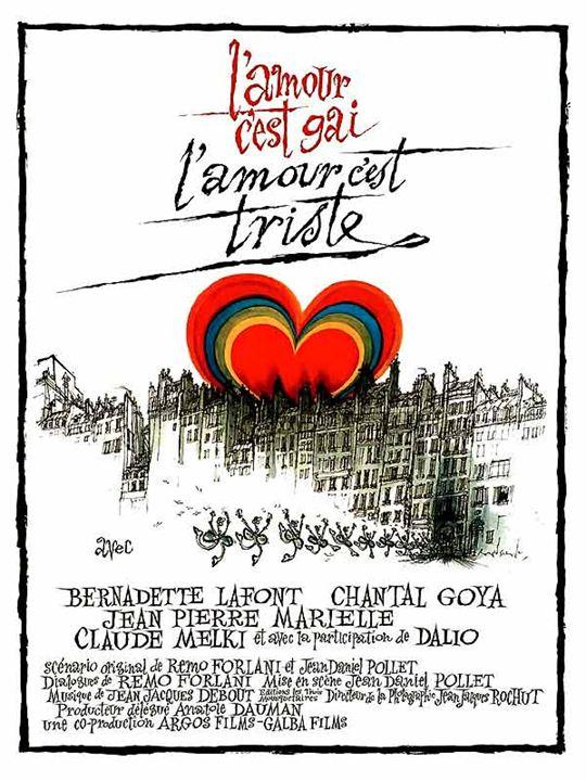 L'Amour c'est gai, l'amour c'est triste : Affiche Jean-Daniel Pollet