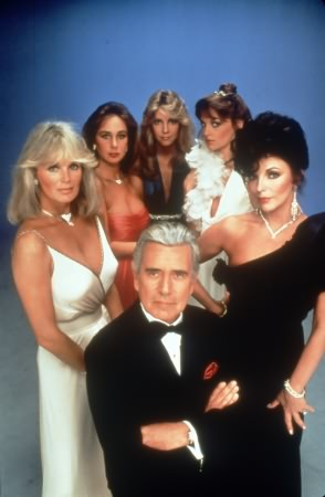 Dynastie : Photo Heather Locklear, Joan Collins, John Forsythe, Linda Evans, Pamela Bellwood