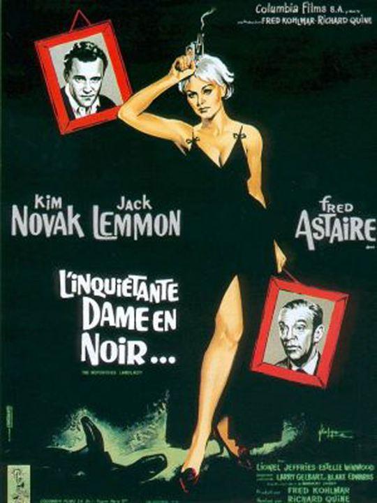 L'Inquiétante dame en noir : Affiche Fred Astaire, Kim Novak