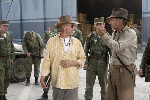 Indiana Jones et le Royaume du Crâne de Cristal : Photo Harrison Ford, Steven Spielberg