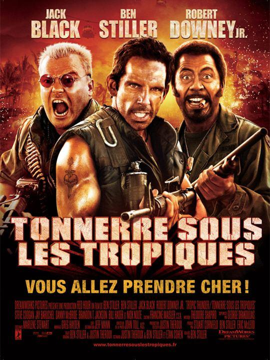 Tonnerre sous les Tropiques : Affiche Jeff Portnoy, Kirk Lazarus, Tugg Speedman