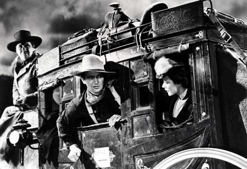 La Chevauchée fantastique : Photo George Bancroft, John Ford, John Wayne, Louise Platt