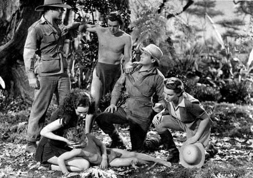 Tarzan s'évade : Photo Darby Jones, Johnny Weissmuller, Maureen O'Sullivan, Richard Thorpe
