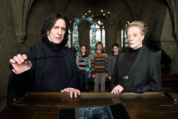 Harry Potter et le Prince de sang mêlé : Photo Alan Rickman, Daniel Radcliffe, Emma Watson, Maggie Smith, Rupert Grint
