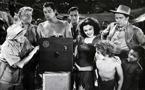 Le Trésor de Tarzan : Photo Barry Fitzgerald, Johnny Sheffield, Johnny Weissmuller, Maureen O'Sullivan, Philip Dorn