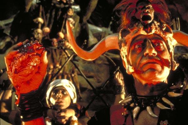 Indiana Jones et le Temple maudit : Photo Amrish Puri, Steven Spielberg