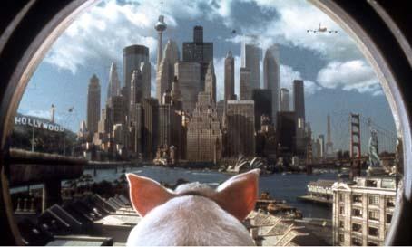 Babe, le cochon dans la ville : photo George Miller