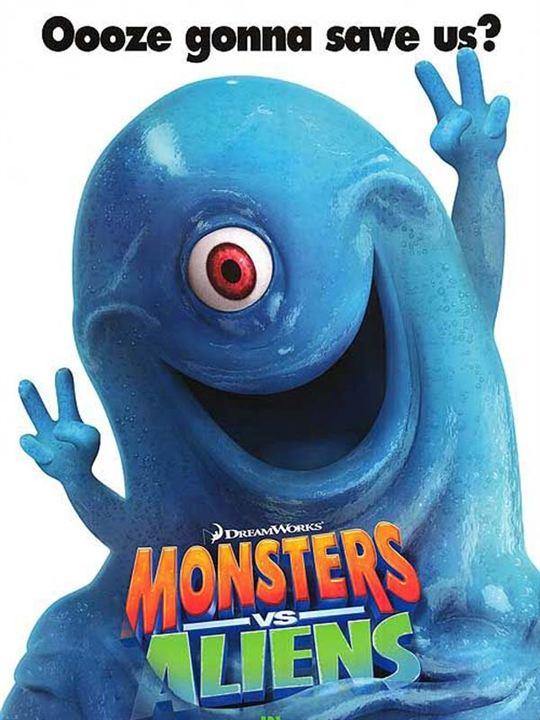 Monstres contre Aliens : Affiche Conrad Vernon, Rob Letterman