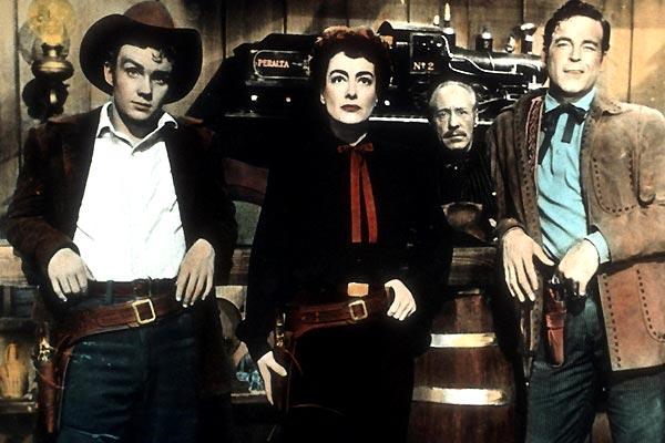 Johnny Guitare : Photo Joan Crawford, Nicholas Ray, Sterling Hayden
